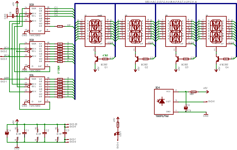 Multiplexing 7 segment LED displays with Arduino