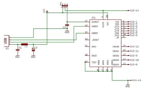 AVR-Projekte / FT232RL Testboard