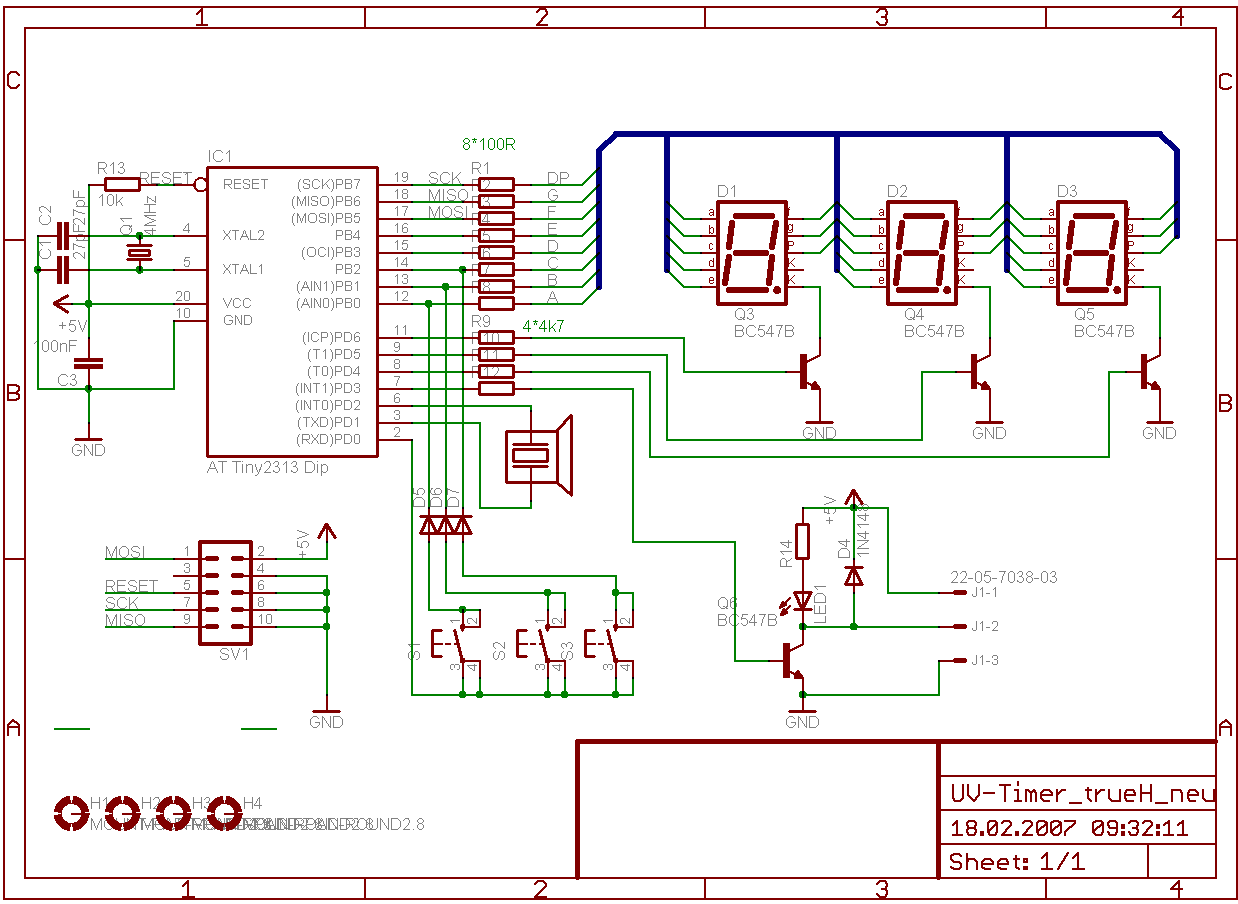 AVR-Projekte / UV-Timer