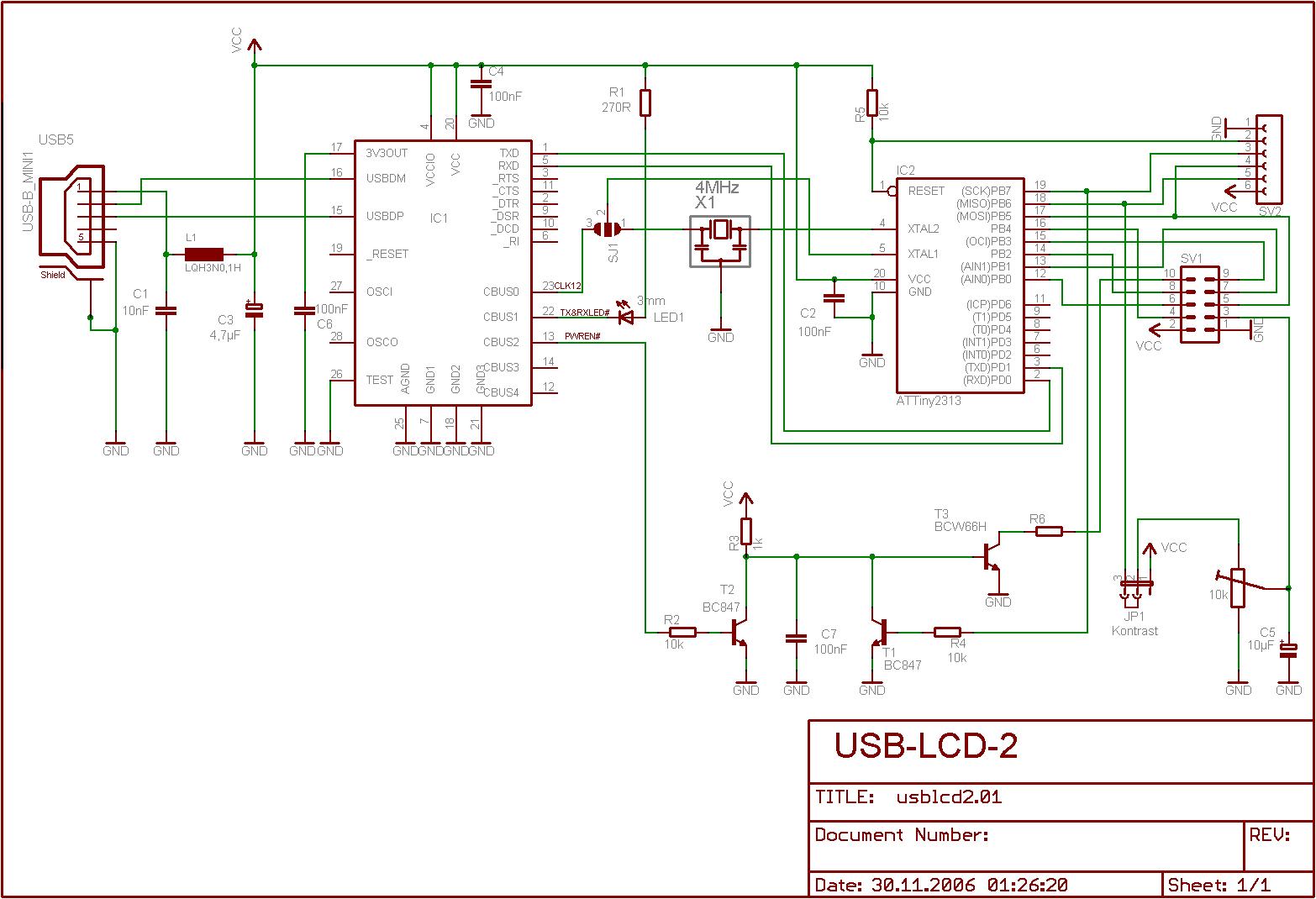 AVR-Projekte / USB-LCD 2